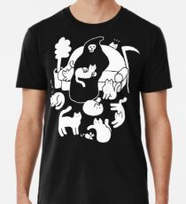 Death And His Cats Premium T-Shirt