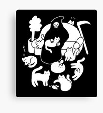 Death And His Cats Canvas Print