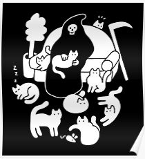 Death And His Cats Poster
