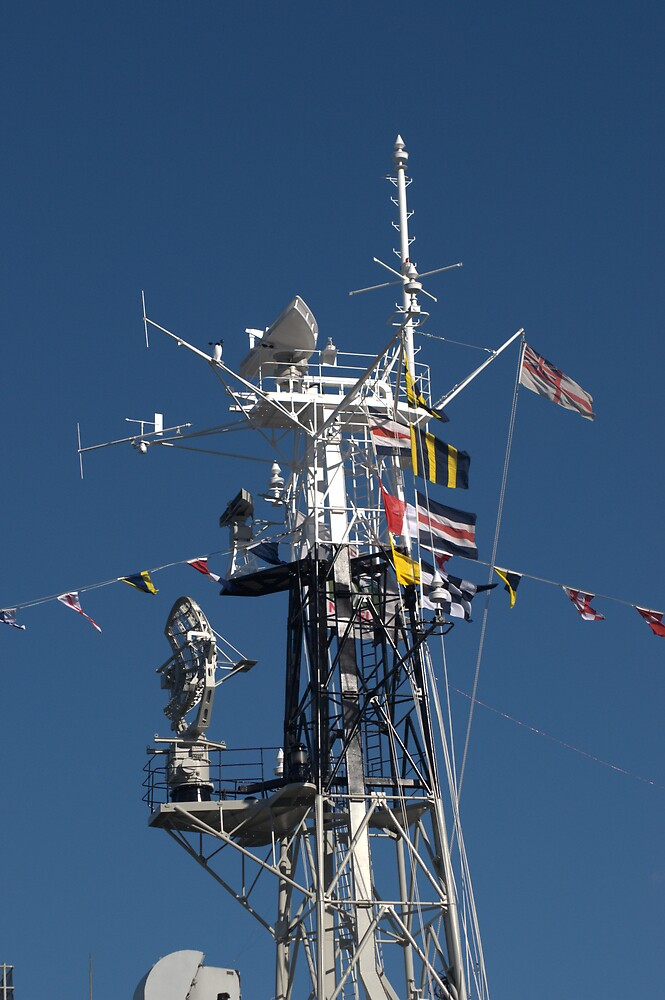 Radio Mast of HMS Belfast by Chris Day