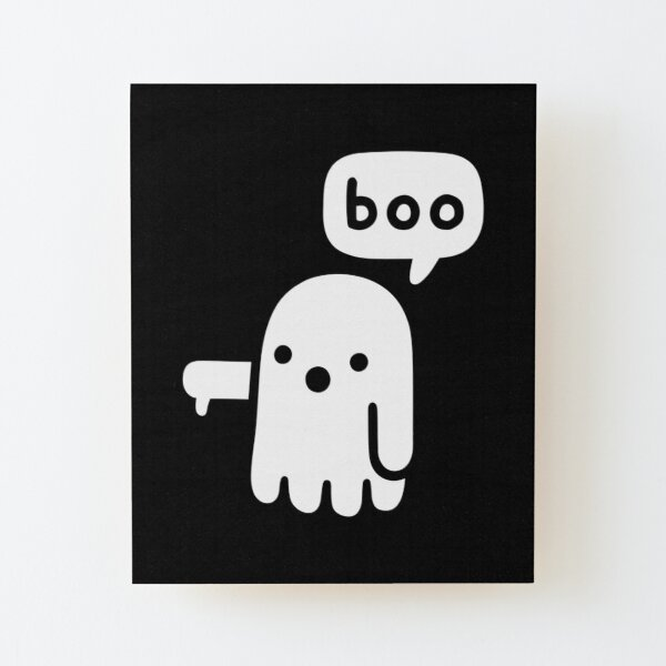 Ghost Of Disapproval Wood Mounted Print