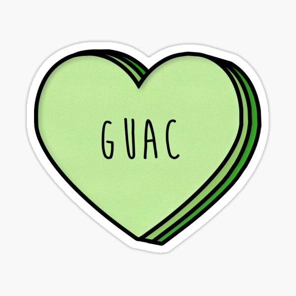 Guacamole Heart Sticker
