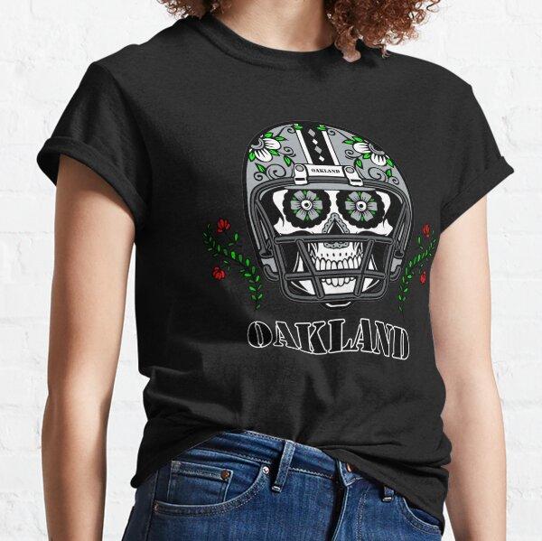 Oakland Football Helmet Sugar Skull Day Of The Dead Classic T-Shirt