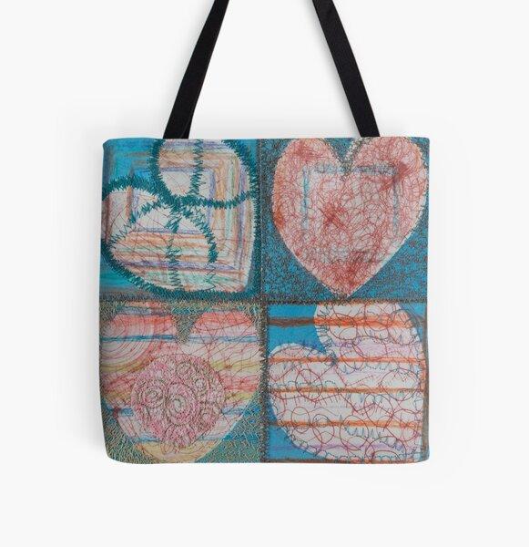 Joy Multiplies Like the Sea All Over Print Tote Bag