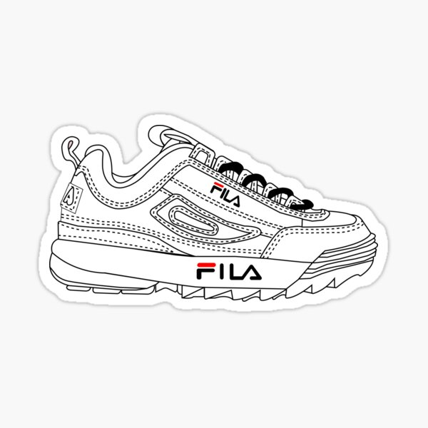 Zapatos Fila Pegatina
