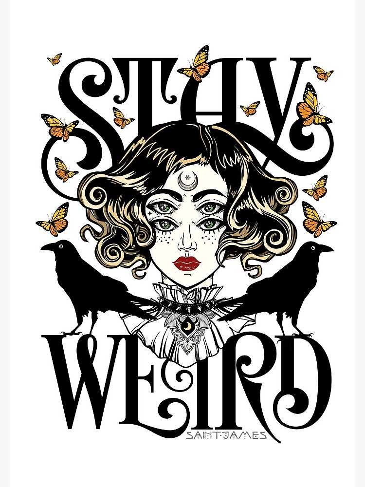 Rose and The Ravens {Stay Weird} Colour Version by wolfandbird