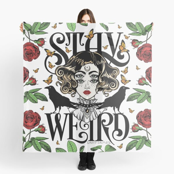 Rose and The Ravens {Stay Weird} Colour Version Scarf