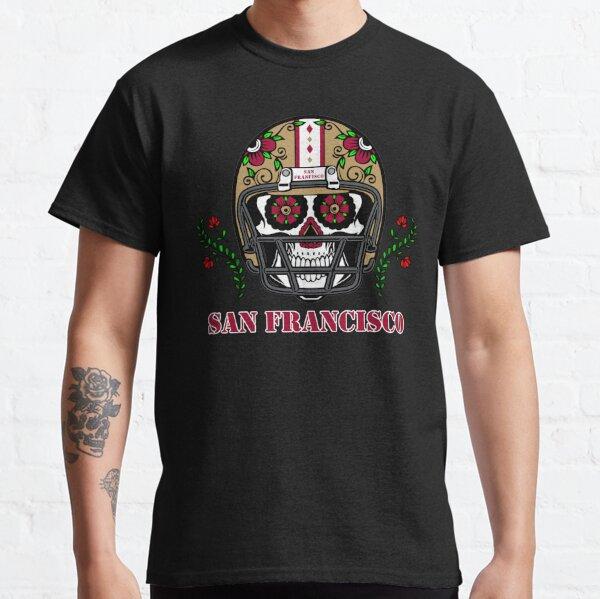 San Francisco Football Helmet Sugar Skull Day Of The Dead Classic T-Shirt