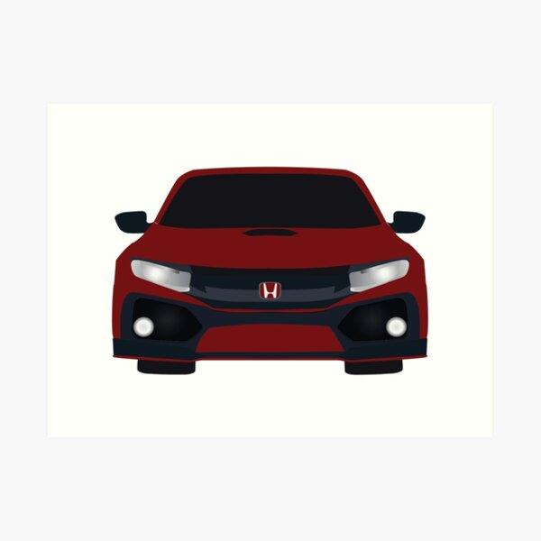 Type-R Caricature Sports Car Art Print Honda Civic FK2 Mk4
