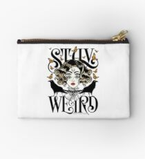 Rose and The Ravens {Stay Weird} Colour Version Zipper Pouch