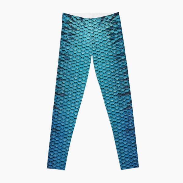 Shimmery Blue and Black Scales Leggings