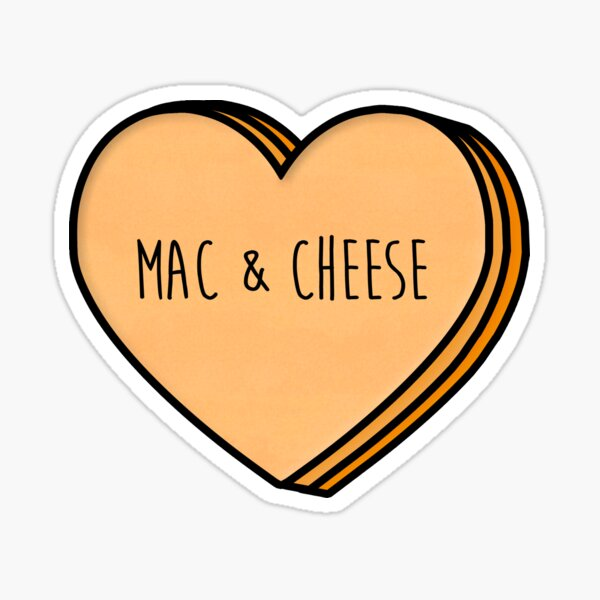 Mac and Cheese Heart Sticker