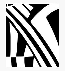 White and Black Dazzle Photographic Print