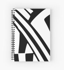 White and Black Dazzle Spiral Notebook