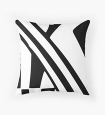White and Black Dazzle Throw Pillow