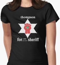 Thompson For Sheriff Women's Fitted T-Shirt