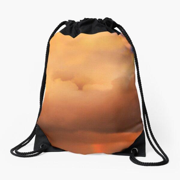 Shooting out a Rainbow Drawstring Bag