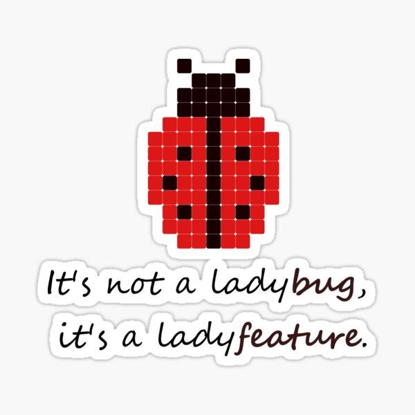 Ladyfeature Woman Programmer Joke Sticker