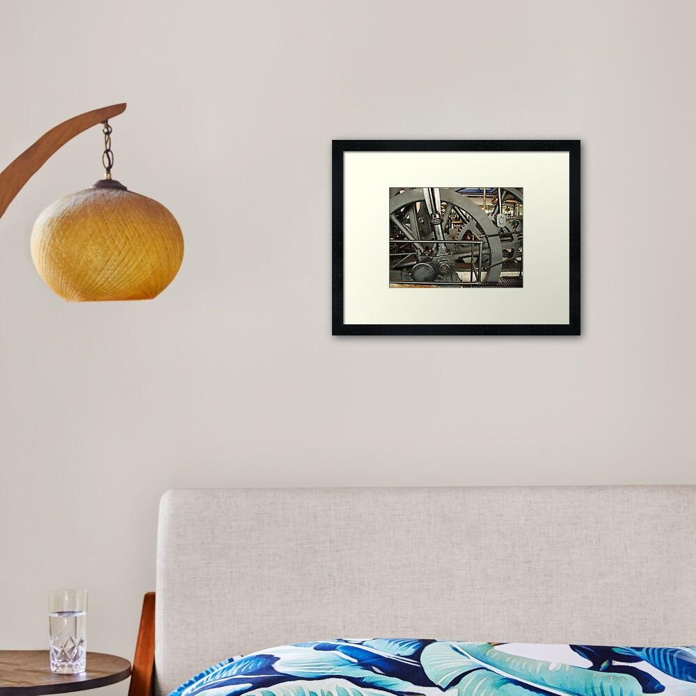 SteamPunk, #SteamPunk,  #science #fiction, science #fantasy,  #ScienceFiction, #ScienceFantasy, #anachronistic #technologies, #retro-futuristic  Framed Art Print