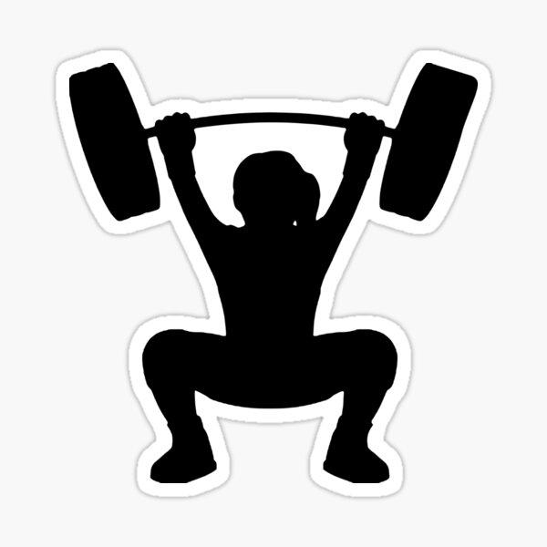 Girl Weightlifter Sticker