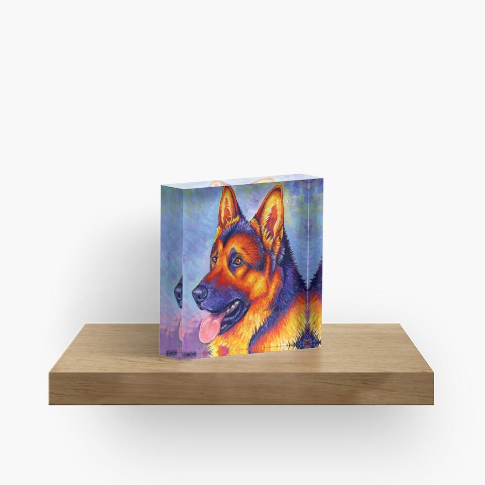 Courageous Partner - Colorful German Shepherd Dog Acrylic Block