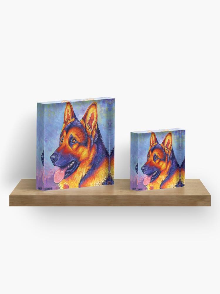 Alternate view of Courageous Partner - Colorful German Shepherd Dog Acrylic Block