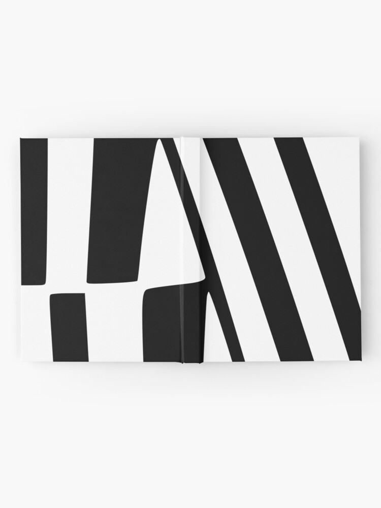 Alternate view of White and Black Thin Dazzle Hardcover Journal