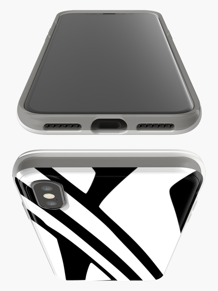 Alternate view of White and Black Thin Dazzle iPhone Case & Cover
