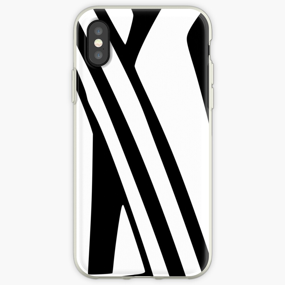 White and Black Thin Dazzle iPhone Case & Cover