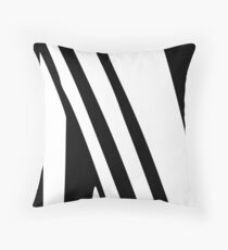 White and Black Thin Dazzle Throw Pillow