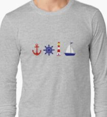 Nautical Illustration  Long Sleeve T-Shirt