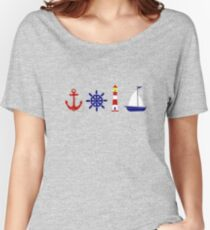 Nautical Illustration  Relaxed Fit T-Shirt