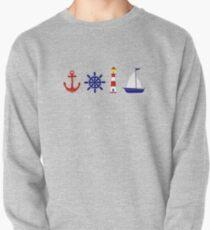 Nautical Illustration  Pullover Sweatshirt