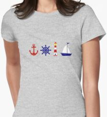 Nautical Illustration  Fitted T-Shirt