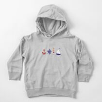 Nautical Illustration  Toddler Pullover Hoodie