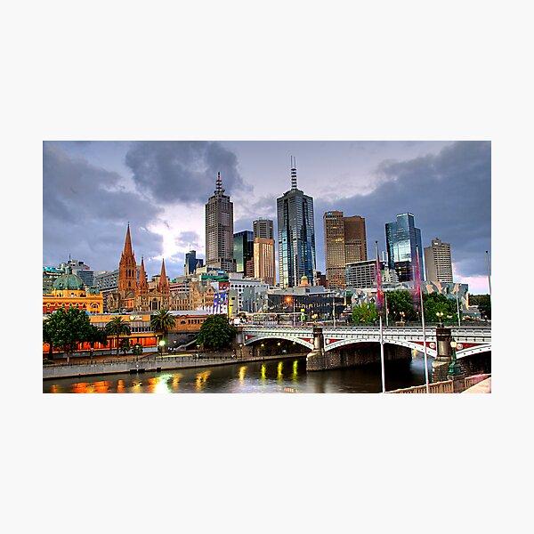 Melbourne @ Dusk Photographic Print