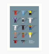 Iconic Musician Outfits Art Print