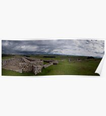 Hadrian's Wall Fort at Housesteads - Panoramic Poster