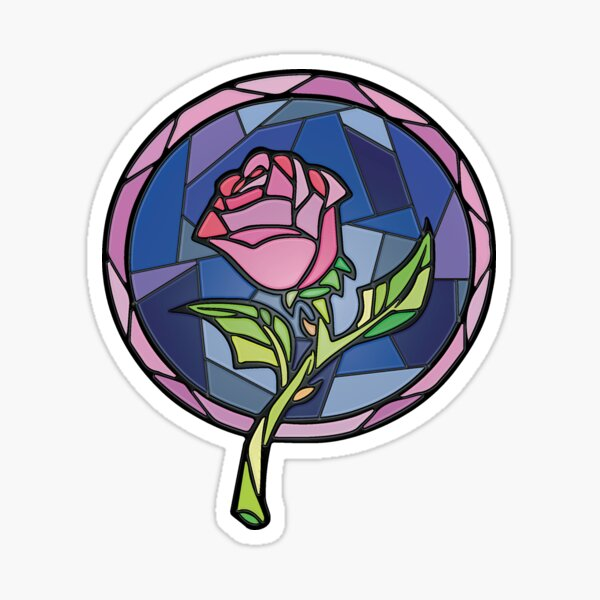 Stained Glass Rose - Enchanted Rose Sticker