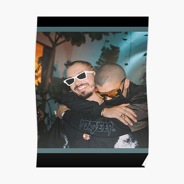 Copia de J Balvin with Bad Bunny Poster