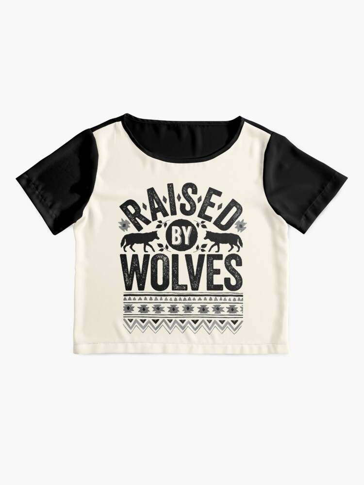 Alternate view of Raised By Wolves {Black + White} Chiffon Top