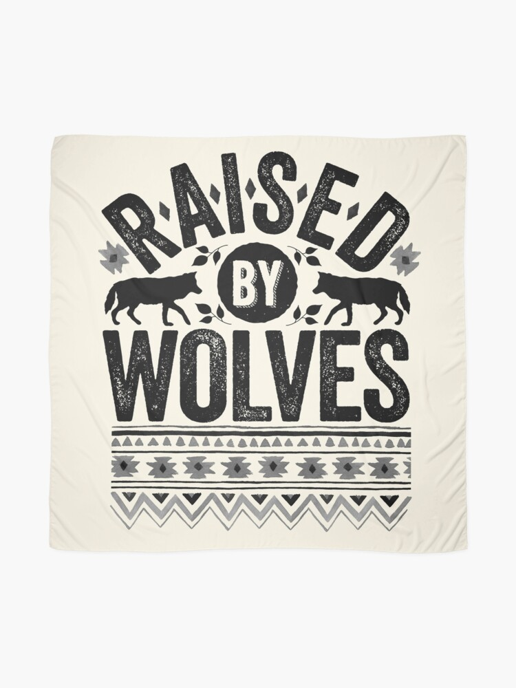 Alternate view of Raised By Wolves {Black + White} Scarf