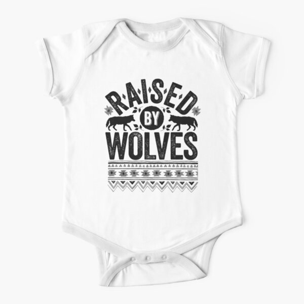 Raised By Wolves {Noir + Blanc} Body manches courtes