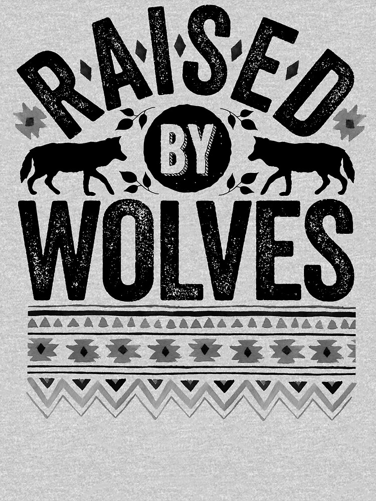 Raised By Wolves {Black + White} by wolfandbird