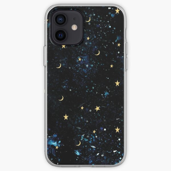 Starry night moon and stars phone case in iPhone and Samsung Galaxy.  iPhone Soft Case