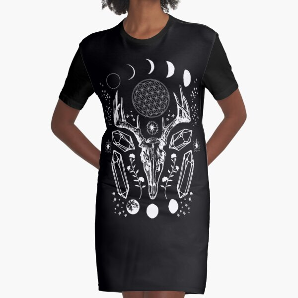 Crystal Moon. Graphic T-Shirt Dress
