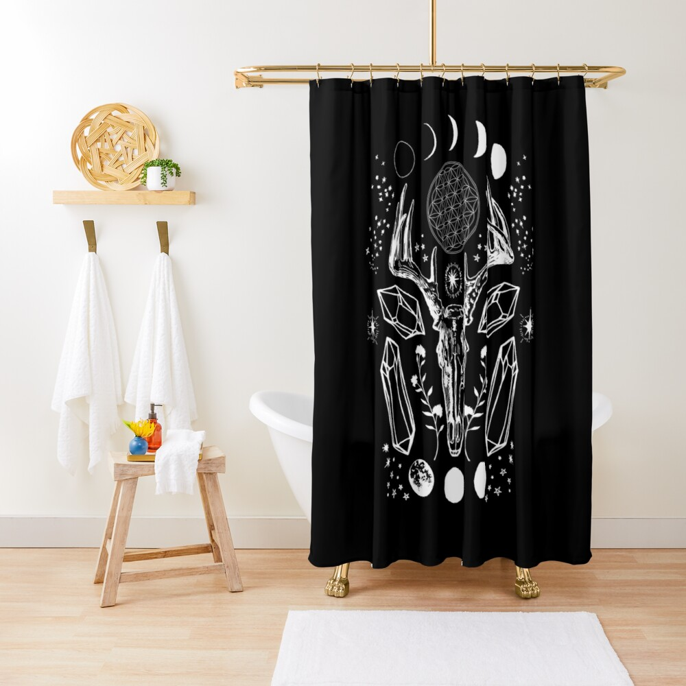 Crystal Moon. Shower Curtain