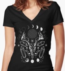 Crystal Moon. Fitted V-Neck T-Shirt