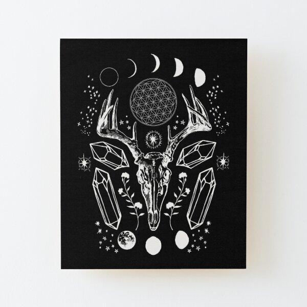 Crystal Moon. Wood Mounted Print