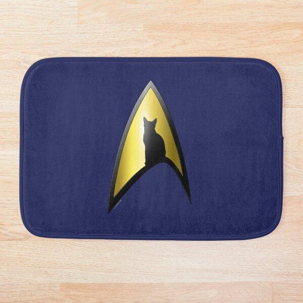 Starfleet Cat Bath Mat